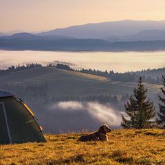 Тепло зранку над хмарами.