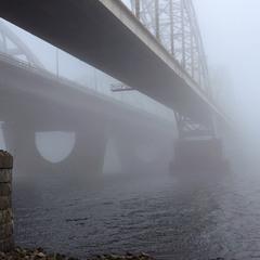 Зранку в Києві: туманна перспектива.
