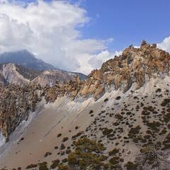 Покручені скелі якісь, дерева покручені, гори, хмари, стежка покручені. Це шо - життя тут таке?
