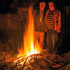 Груповий портрет з вогнем. Буде вечеря.