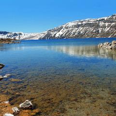 Дно озера на дні вулкану.