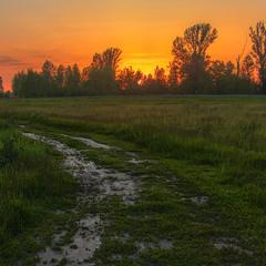 Сонце низенько, вечір близенько, вийди до мене, моє серденько. Ось цією дорогою. У поля край села.