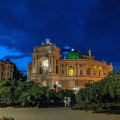 Odesa Opera at night