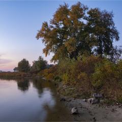 Вечірній берег Дніпра