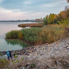 Осінній берег Дніпра