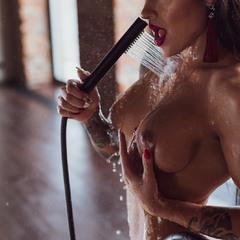 с душем