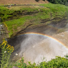 Rainbow over Middle Falls
