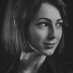 Monochrome portrait. May 1, 2018 Photo theater.