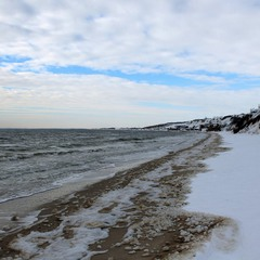 Зимний пляж...