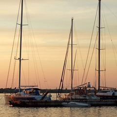 закат в Яхт-клубе.