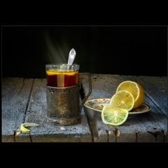 Чай с лимоном..