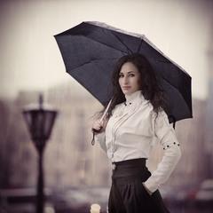 ольга под дождем