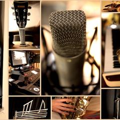 Рекламный плакат (стикер) студии звукозаписи