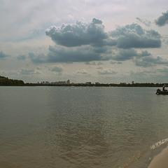 Вид на Київ з острова Великий.