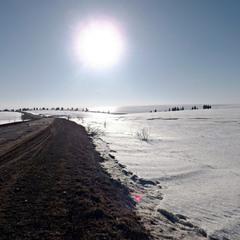 Сонце на снігу.