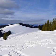 Снігохідна траса на горі Длиній.