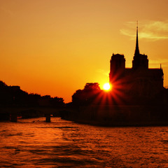 Sunset over Notre-Dame