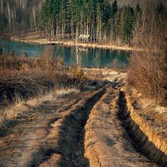 Дорога к лесному озеру