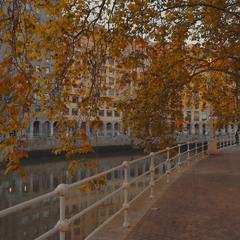 Осенний вечер в Бильбао...