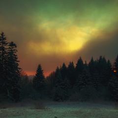 Морозный вечер в Опака