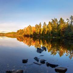 Вечер на озерах Лерум