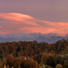 Осенний вечер в Швейцарии