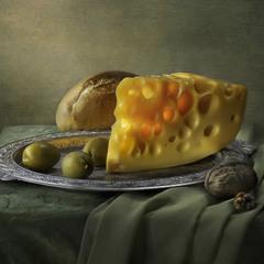 с оливками и сыром