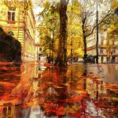 Рисует осень...