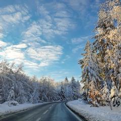 Зимними дорогами