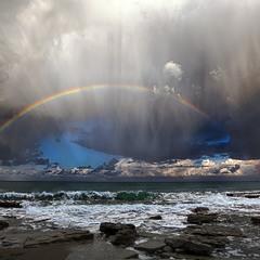 Радуга во время бури