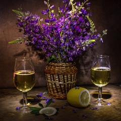 Люпины и вино