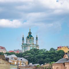 Вид на Андреевскую с Контрактовой