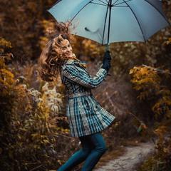 Полет на зонтике