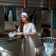Washhouse worker
