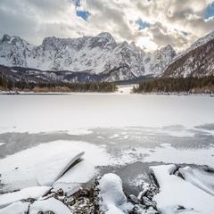 Озера Фузине. Граница Италии, Австрии и Словении.