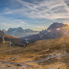Последние лучи. Доломиты, Италия // Dolomiti. Italia