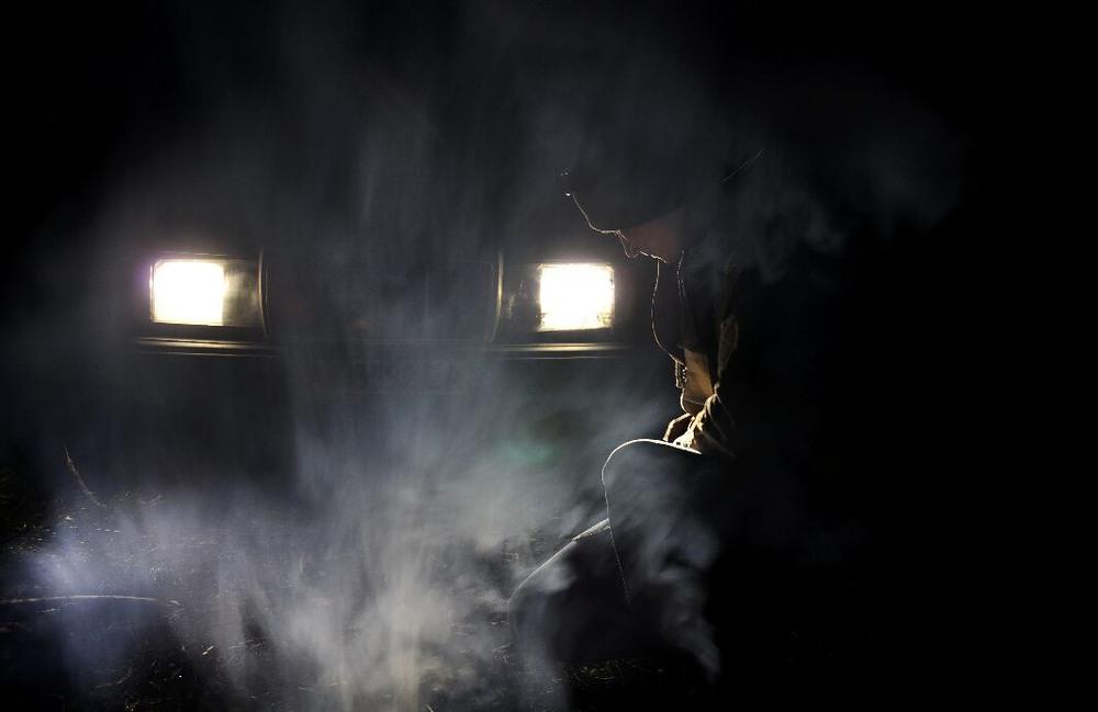 Картинки дым ночью