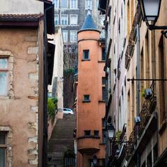 Вот такие улицы в Лионе