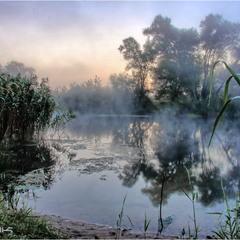 Туманное утро на реке Оскол.