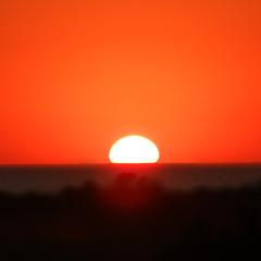 Последний блик уходящего солнца