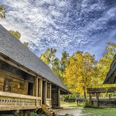 Осеннее село