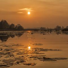 Вечір на Київському водосховищі...