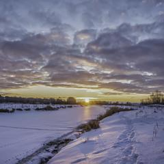 Зимовий світанок...