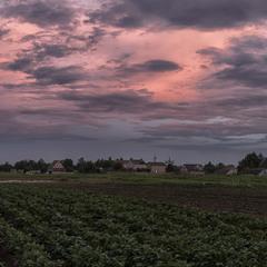 Відголоски заходу сонця над Козельцем...