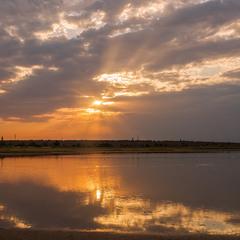 Вечір на озері Солонець-Тузли...