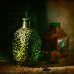 натюрморт с бутылками