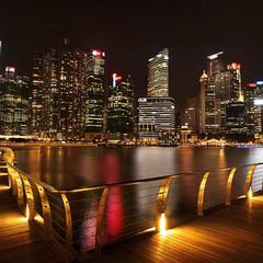 Огни большого города. Сингапур.