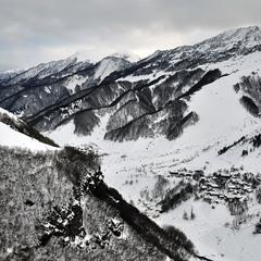 Пейзаж, нарисованный снегом