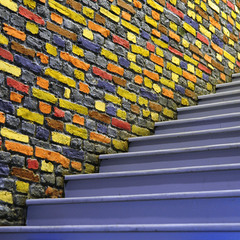 Stairs and color bricks