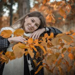 девушка - осень